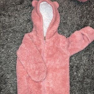Pink soft winter outfit!